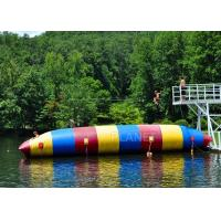 Quality Red / Blue / Green Inflatable Water Pillow Water Floating Launch Toy for sale