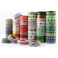 China Masking Paper Scotch Tape Label Roll Halloween Christmas Festival Design on sale