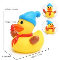 Quality Eco - Friendly Children Toy Collectible Rubber DucksChristmas Ornament7cm Height for sale