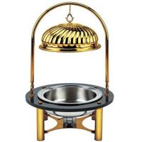 SCC ZC-002 Round Marble Hanging Chafing Dish with Alcohol Cup for Heating