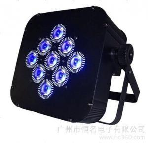 Quality Black Box Led Mini Flat Par Light 15W 9PCS RGBWA 5in1 For Stage Decoration for sale