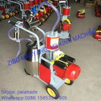 Buy For Russia market,Piston Typed Double Buckets Mobile Milking Machine,small portable milking machine for cow and goat at wholesale prices