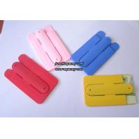 China Colorful Silicone cell phone stand,cell phone card holder,silicone card holder on sale