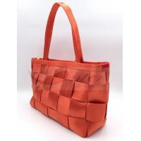 Buy Orange Webbing Travel Nylon Tote Bags Multi Function Big Volume 210D Lining at wholesale prices