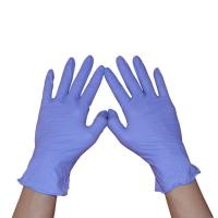China Dental Nitrile Exam Gloves Powder Free Micro Texture Surface 240mm Length on sale