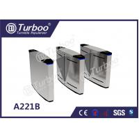 Quality LED Lamp Indication Flap Barrier Turnstile Access Control Security Systems for sale