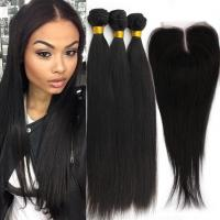 Quality Remy Human Double Weft  Virgin Cambodian Loose Wave Hair Natural Black for sale