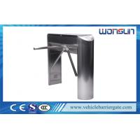 China Subway Station Electric Double Tripod Turnstile Gate Mechanism , Vertical Type on sale