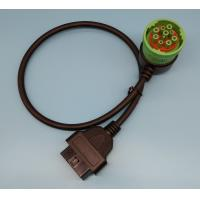 Right Angle Green Obd2 Pass Through Cable 9 Pin To 16 Pin Serial
