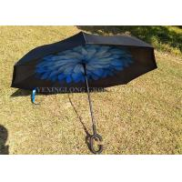 "Quality 23"" * 8K Windproof Reverse Umbrella , Reverse Close Umbrella That Closes Inside Out for sale"