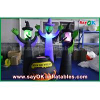 Quality 210D Oxford Cloth Inflatable Scary Ghosts and Magic Jar with LED Lighting for Halloween for sale