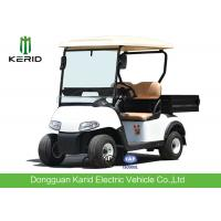 Quality 2 Seater Mini Car White Electric Utility Golf Carts Installed With Small Fans for sale