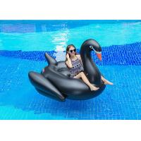 Quality Semicircle Inflatable Pool Floats Black Color Giant Inflatable Swan Pool Float for sale