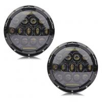 """Quality 7"""" Hi Lo Beam 75w Led Jeep Headlights With Aluminum Die Cast Housing for sale"""