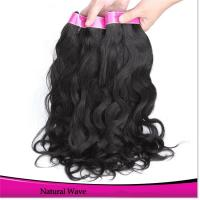 China Remy Human Hair Weave Natural Wavy Hair on sale