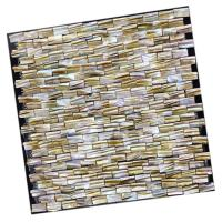 Quality Brick River Shell 3d Mosaic Tiles , Shell Backsplash Tile For Bathroom Decorative for sale