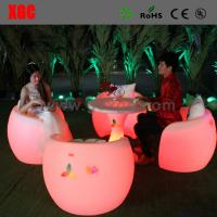 Quality New Style Led Bar Chair / Led Furniture Led Table And Chairs for sale