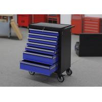 Buy Blue Heavy Duty 7 Drawers Garage Storage Tool Cabinets On Wheels Lockable at wholesale prices