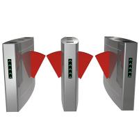 Quality Security RFID Card Turnstile Access Control System Optical Slim Swing Turnstile for sale