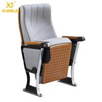 Buy Upholstered Foldable Auditorium Theater Seating With Writing Pad for Conference Hall at wholesale prices