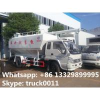 Quality forland RHD mini bulk lickstock and poultry feed transported truck for sale, best price 4tons animal feed pellet truck for sale