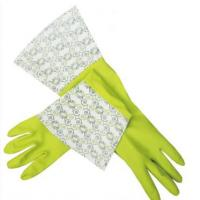 Quality Fish scale grip Elbow Length Latex Gloves , daily life to protect hands for sale