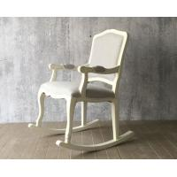 Quality European Style Wooden Leisure Chair , White High Back Velvet Chair for sale