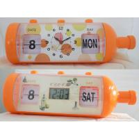 Quality Novelty Bottle Clock with Calendar for sale