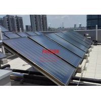 Quality Blue Titanium Flat Collector Ultrasonic welding Flat Panel Flat Plate Solar Water Heater Hotel Solar Heating for sale