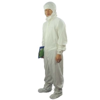 Quality Dust Proof 100D 98% Cotton Antistatic Coveralls ESD Smock for sale