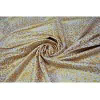 Buy Metallic Ink Printing Plain Cotton Fabric With Beautiful Gold Color at wholesale prices