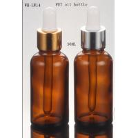 Quality empty 30cc 30ml PET amber cosmetic  oil  dropper bottle for sale