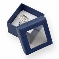 Quality Luxury Small Cardboard Gift Boxes Gift Ring Packaging 50x50x32mm With Clear Window for sale