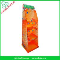 China Manufacturer Paper material shelf cardboard floor standing display units with hooks