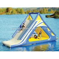 Quality Outdoor Floating Adult Inflatable Water Slide , Big Inflatable Water Toys For Lake for sale