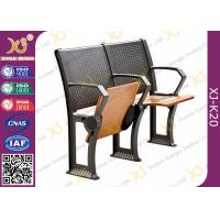 Buy Gravity Return Folded Seat  Lecture Hall Chair Table With Writing Board For University at wholesale prices