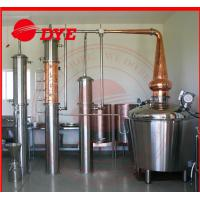 Quality 800L Manual Alcohol Distiller Apparatus , Vodka Distillation Equipment for sale
