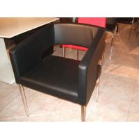 Quality Modern Style Black Faux Leather Dining Chairs For Simple Living for sale