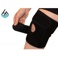 Quality Unisex Powerlifting Knee Sleeves , Knee Compression Sleeve Running With Holes for sale