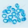 Oval shape diamond cut Aqua blue gemstone for sale