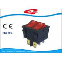 Quality 6 Pin Double Electrical Rocker Switches With Light Indicator , Electrical On Off Switch 10a 250v for sale