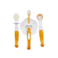 Quality 100 % Silicone Baby Finger Toothbrush , Customized Color Soft Baby Brush for sale