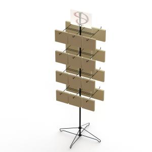 China 24 Bags Spinner Rotatable Metal Floor Display Stands on sale