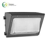 China 100w 347v Glass Wall Pack Light Photocell Control AC100-277V For Outdoor Lighting on sale
