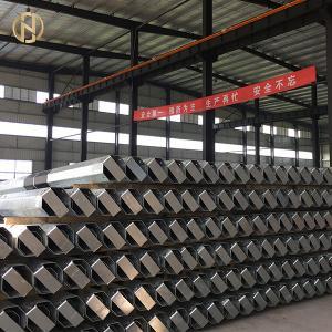 Quality Hot Dip Galvanized Tubular Steel Pole 17M 3000daN Safety Factor 2.0 for sale