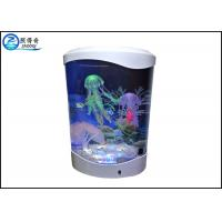 Quality 4L Desktop Jellyfish Custom Fish Tanks Colorfull LED Lights With Silicone Ornaments for sale