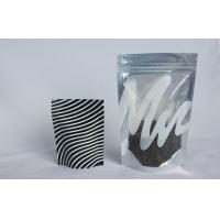 China Clear Window Foil Ziplock Bags Stand up , Plastic Bag with Zipper for Tea on sale
