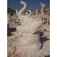 Quality stone carving elephant water fountain for sale