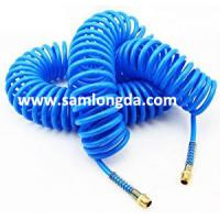 Quality TPU Recoil air hose tube with NPT  fitting for compressed air system,blue color, yellow color for sale