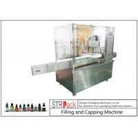 Quality 10ml-100ml E-liquid Bottle Filling And Capping Machine With Piston Pump for sale
